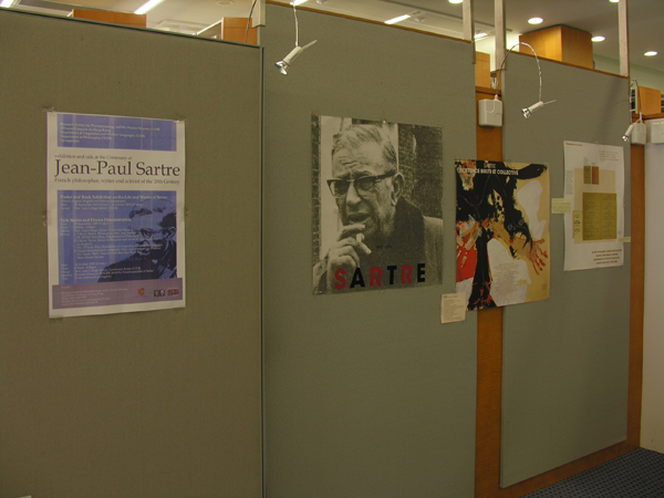 Exhibition and talk at the Centenary of Jean-Paul Sartre French philosopher, writer and activist of the 20 Century