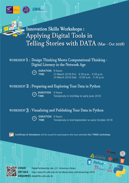Innovation Skills Workshops: Applying Digital Tools in Telling Stories with DATA
