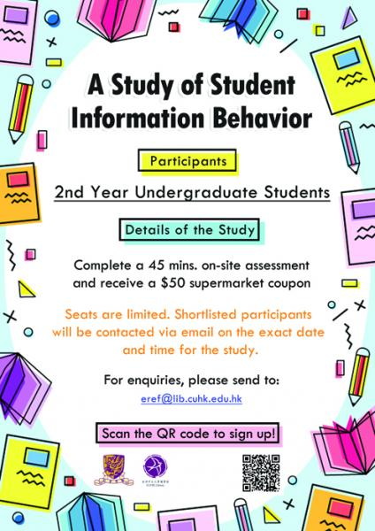 Poster-Library Study of Student Information Behavior