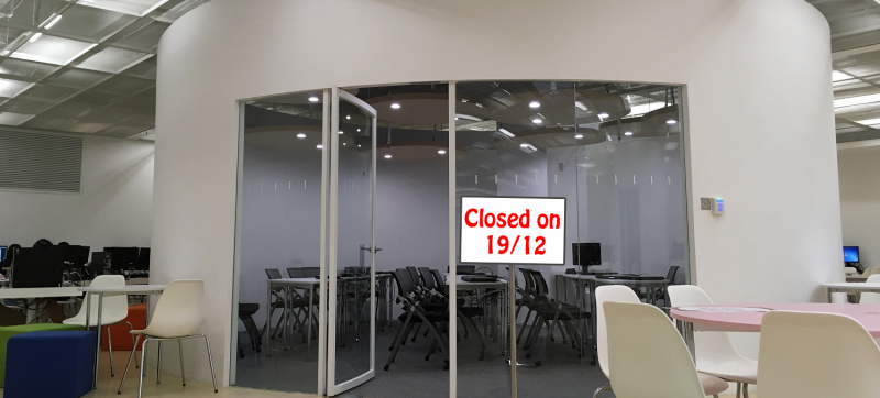 Closure of the Multi-purpose Room 2 in the Learning Garden