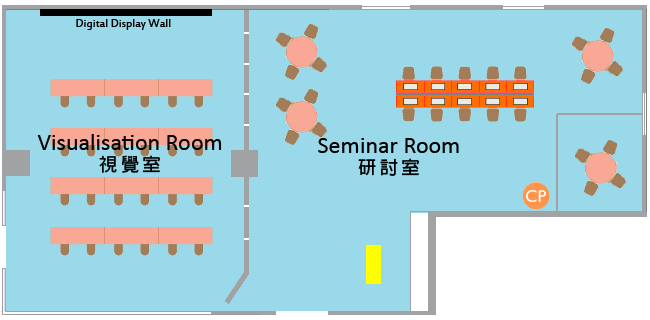 Floor plan of Digital Scholarship Lab