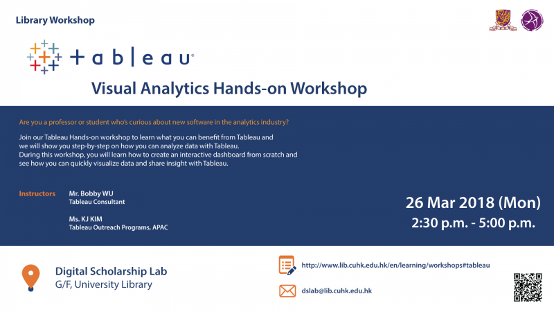 Tableau - Visual Analytics Hands-on Workshop (26 March)