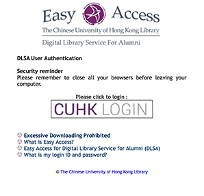 Off-Campus Access to E-Resources | Chinese University of Hong Kong