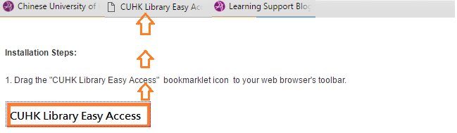 Easy Access Bookmarklet