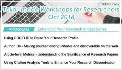 Tailor-made Workshops for Researchers (Oct 2018)