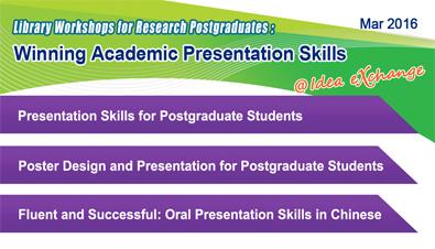 Library Workshops for Research Postgraduates: Winning Academic Presentation Skills