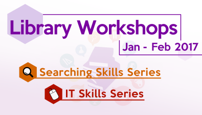 Library Workshops: Jan - Feb 2017