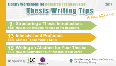 Library Workshops for Research Postgraduates: Thesis Writing Tips