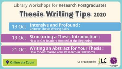 Thesis Writing Tips (Oct 2020)