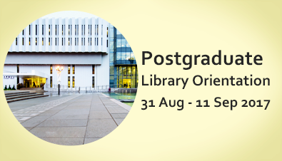 Postgraduate Library Orientation 2017