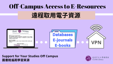 Off-Campus Access to E-Resources