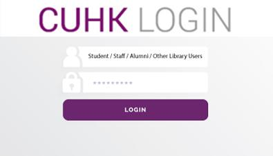 Login ID and password for Library services